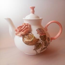 Чайник доливной с чайной розой