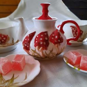 Мухоморчики, набор для чая