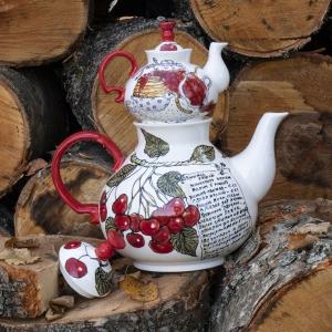 "Чайный набор, чайник доливной, чайник заварочный ""Вишенка"""